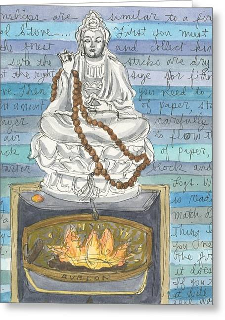 Relationships Are Similar To Fire Greeting Card by Jennifer Mazzucco
