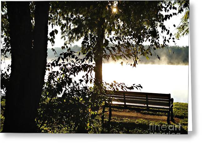 Relax And Enjoy The View Greeting Card by Nancy E Stein