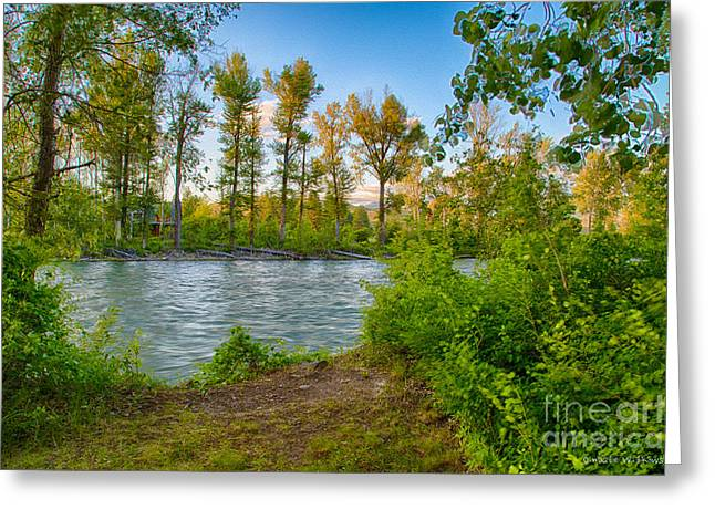 Relax By The Methow Rivers Edge Greeting Card