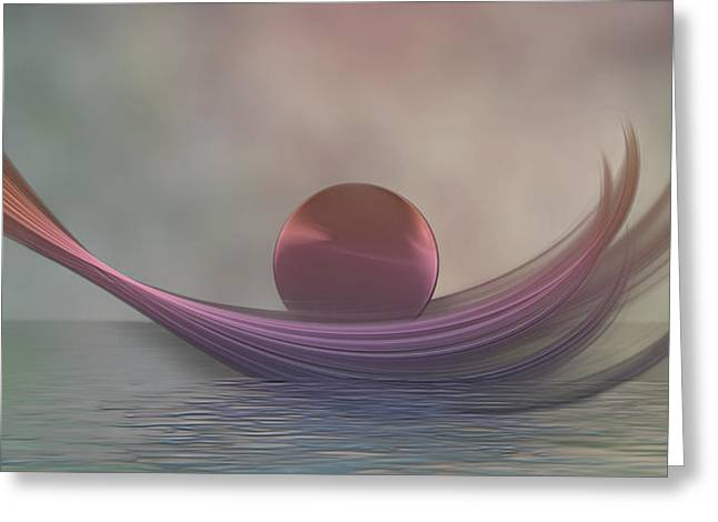 Greeting Card featuring the digital art Relax by Gabiw Art