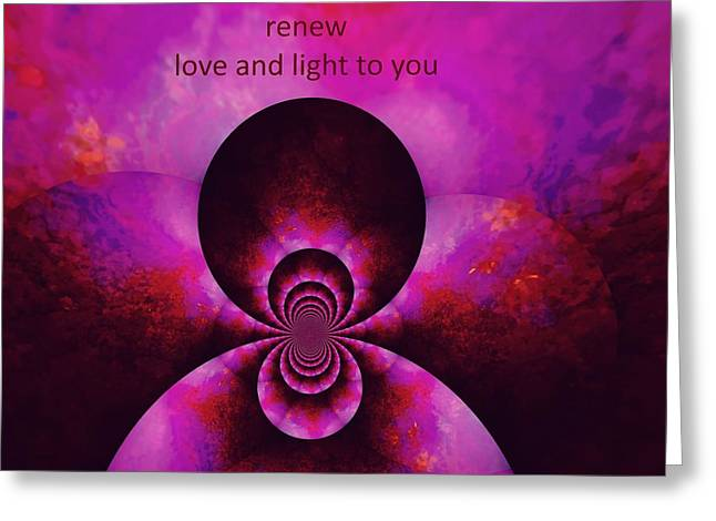 Relax Release Renew Greeting Card by Tanya Levy