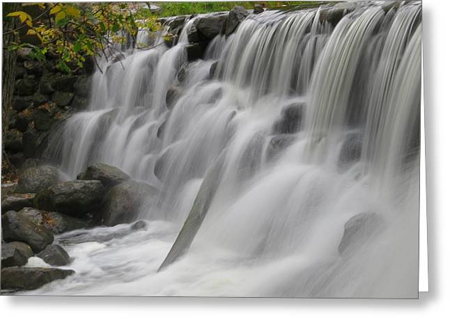 Greeting Card featuring the photograph Relaxation Falls by Nikki McInnes