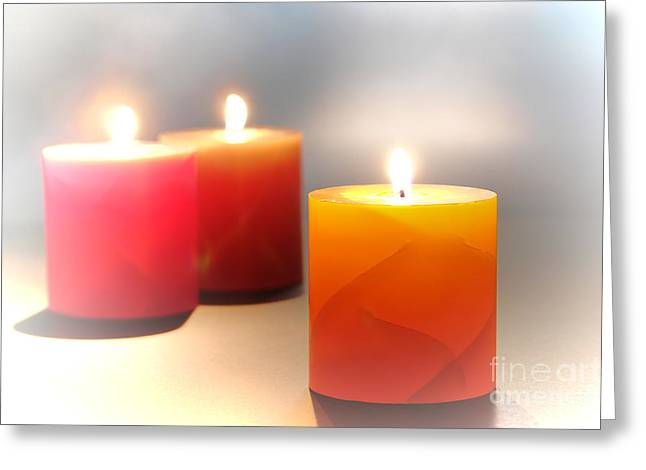 Candle Lit Greeting Cards - Relaxation Greeting Card by Olivier Le Queinec