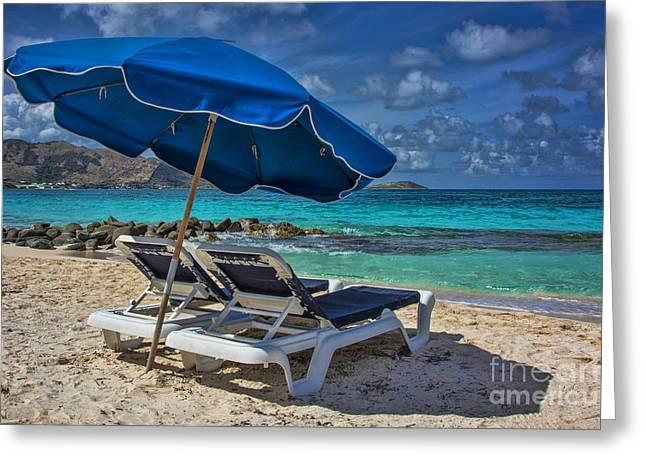 Relaxing In St Maarten Greeting Card