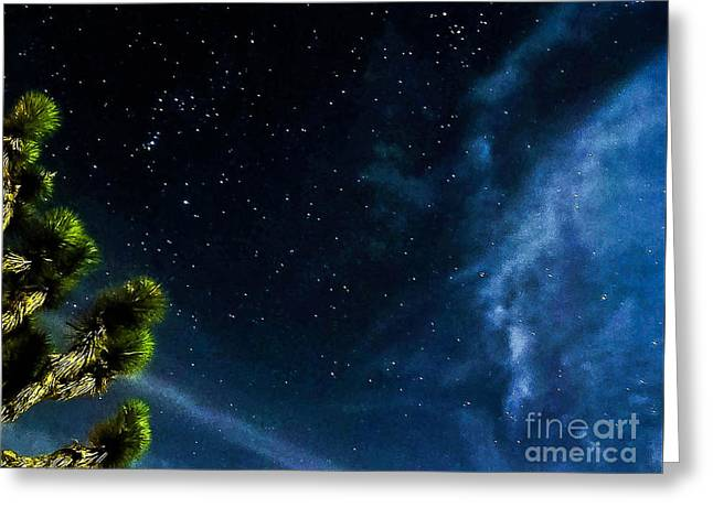 Releasing The Stars Greeting Card by Angela J Wright