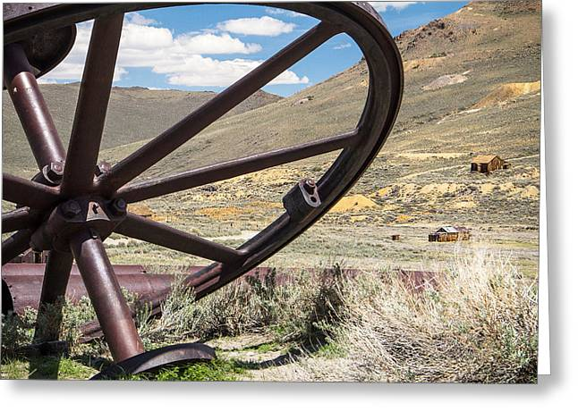Greeting Card featuring the photograph Relics Of Bodie by Steven Bateson
