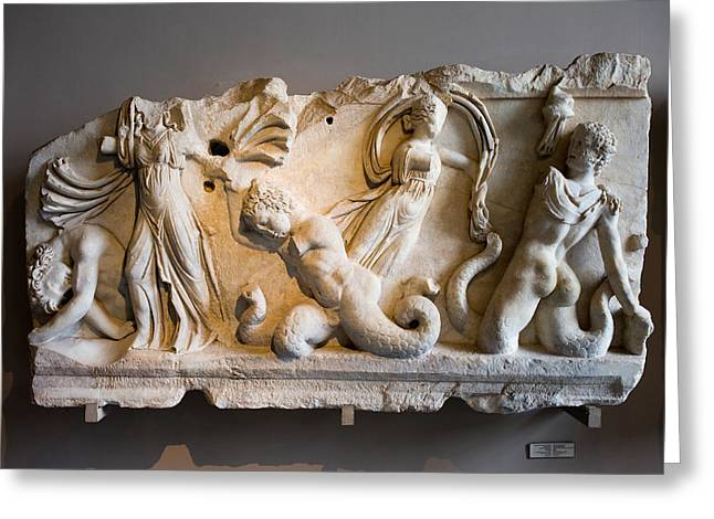 Relief Depicting Gigantomachy Greeting Card by Artur Bogacki