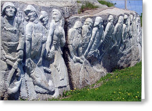 Relief Sculpture At Peggy's Cove Greeting Card by Brenda Anne Foskett