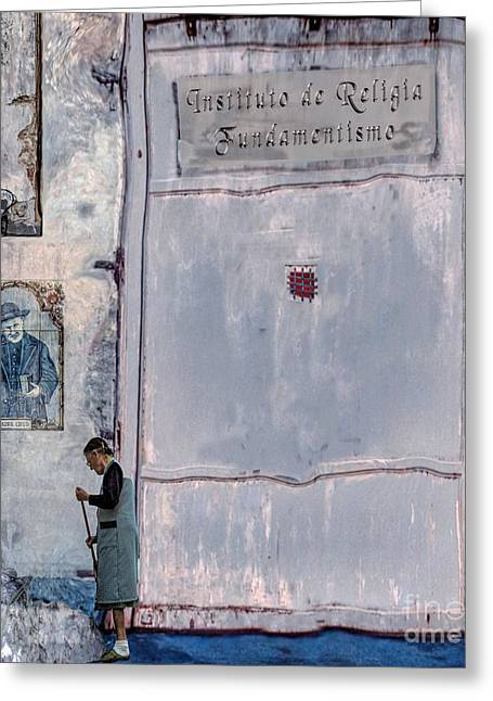 Religia Fundamentismo Greeting Card by Ted Guhl