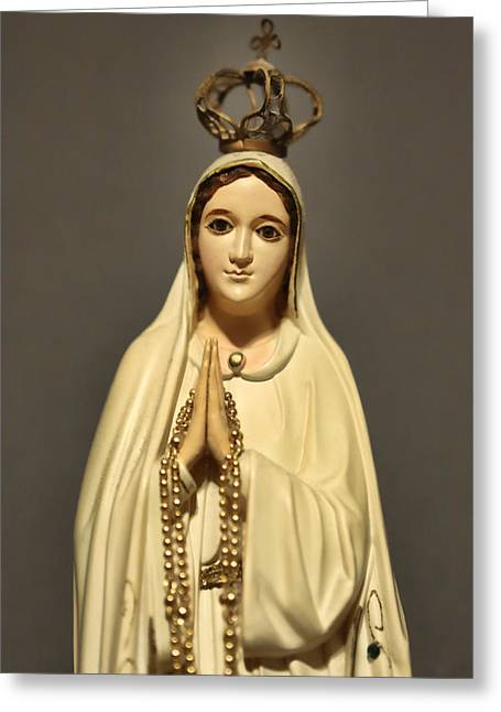 Religion - The Virgin Mary Greeting Card by Lee Dos Santos