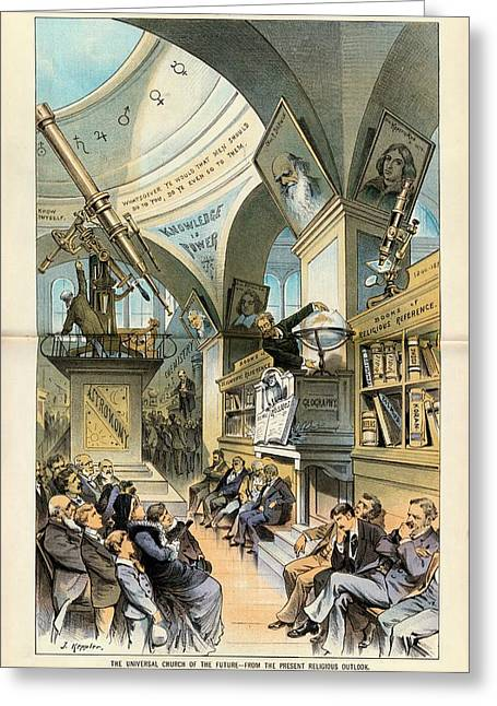 Religion And Science Greeting Card by Library Of Congress