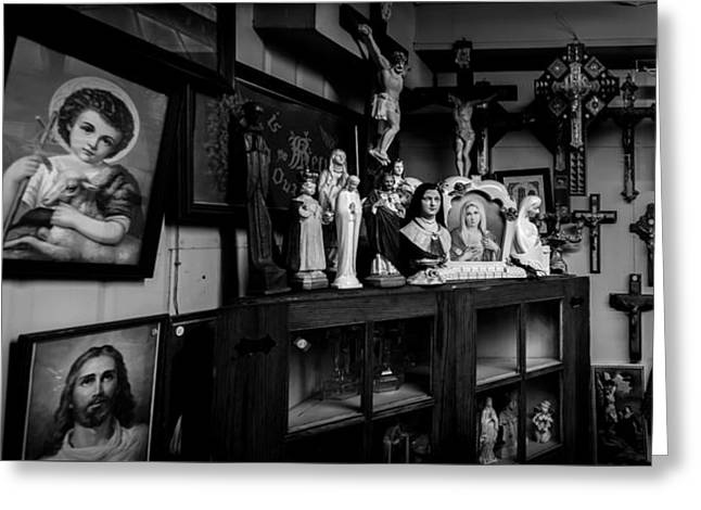 Religion And The Curio Shop Greeting Card by Bob Orsillo