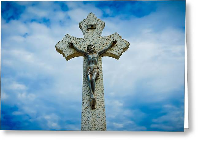 Religious Cross Greeting Card by Aged Pixel