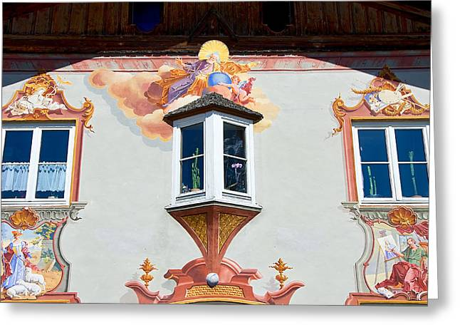 Religious Wall Mural Bavaria Greeting Card