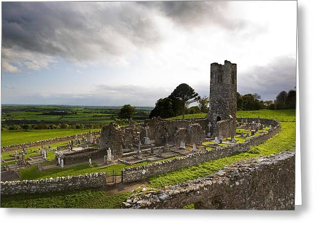 Remains Of The Church On St Patricks Greeting Card by Panoramic Images