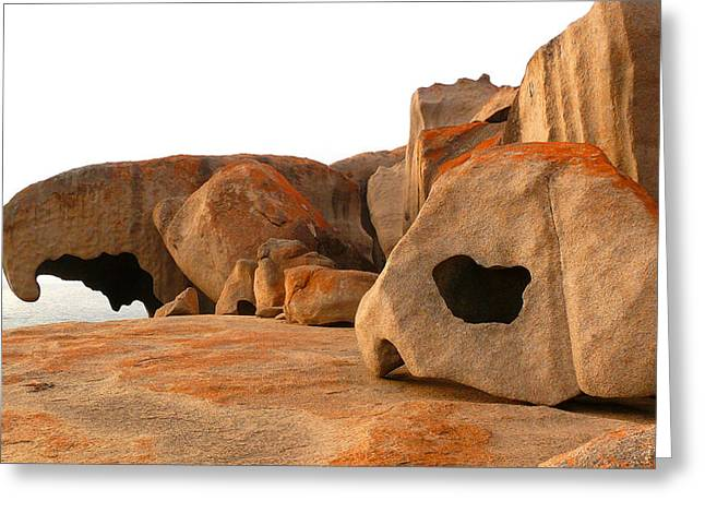 Remarkable Rocks Greeting Card by Evelyn Tambour