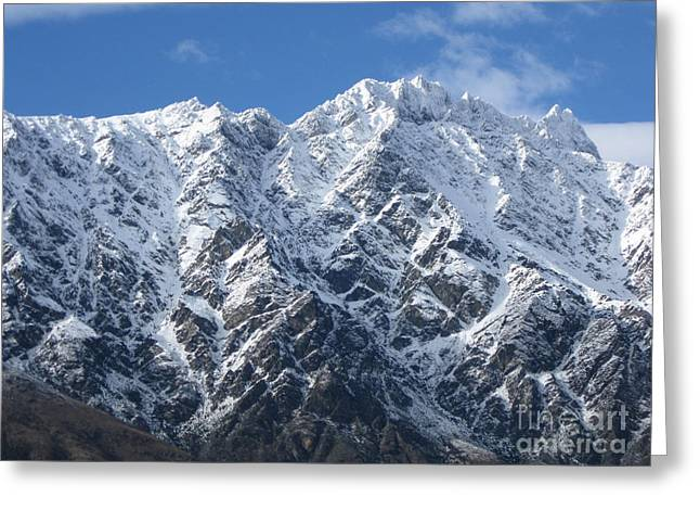 Remarkables Mountains  Greeting Card by  Lines
