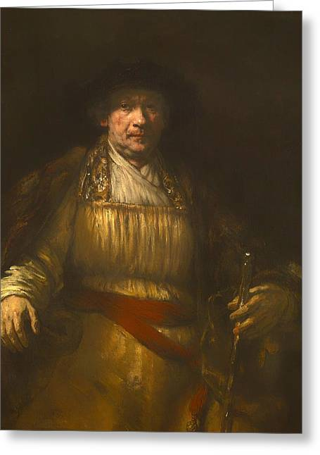 Rembrandt Self Portrait Greeting Card by Mountain Dreams