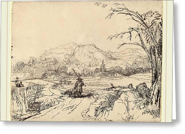 Rembrandt Van Rijn Dutch, 1606-1669, Landscape Greeting Card