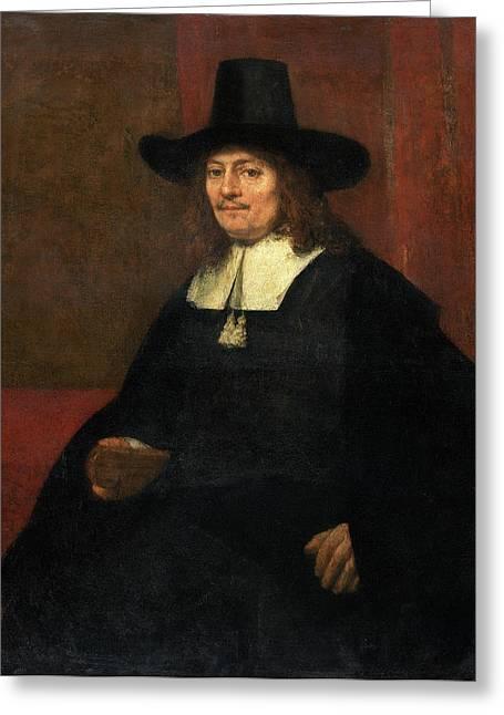 Rembrandt Van Rijn Dutch, 1606 - 1669, Portrait Of A Man Greeting Card