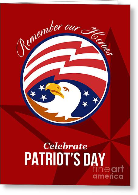 Remember Our Heroes Celebrate Patriots Day Poster Greeting Card by Aloysius Patrimonio