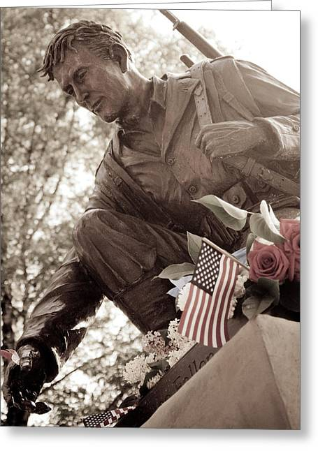 Greeting Card featuring the photograph Remember The Fallen by Chris McKenna