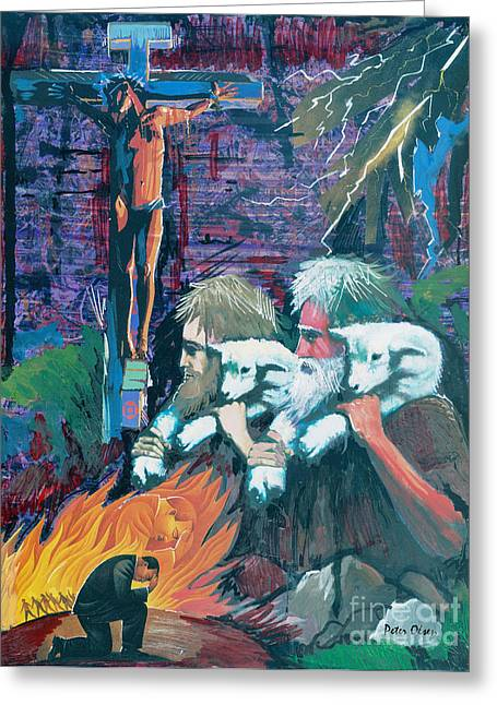 Remember The Shepherd Greeting Card by Peter Olsen
