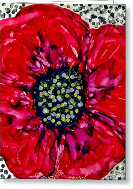 Remembering The Fallen Alcohol Inks Greeting Card by Danielle  Parent