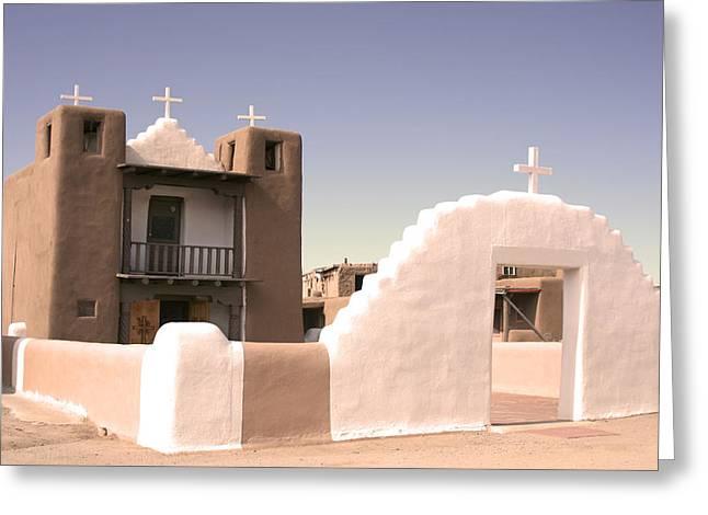 Remembering The Pueblo Greeting Card by Heidi Hermes