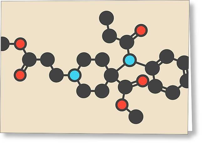 Remifentanil Drug Molecule Greeting Card