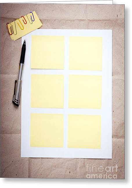 Reminder Notes Greeting Card by Tim Hester