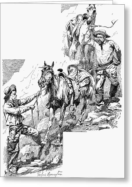 Remington Cowboys, 1887 Greeting Card by Granger