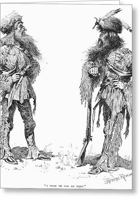 Remington Frontiersmen Greeting Card by Granger