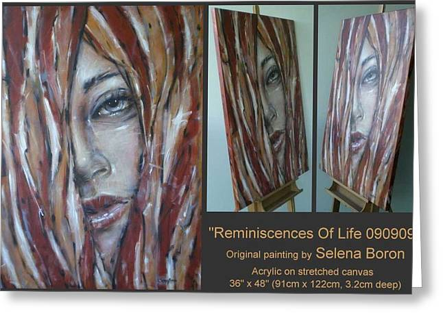 Greeting Card featuring the painting Reminiscences Of Life 090909 by Selena Boron