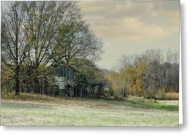 Remnants - Old Barn Landscape Scene Greeting Card