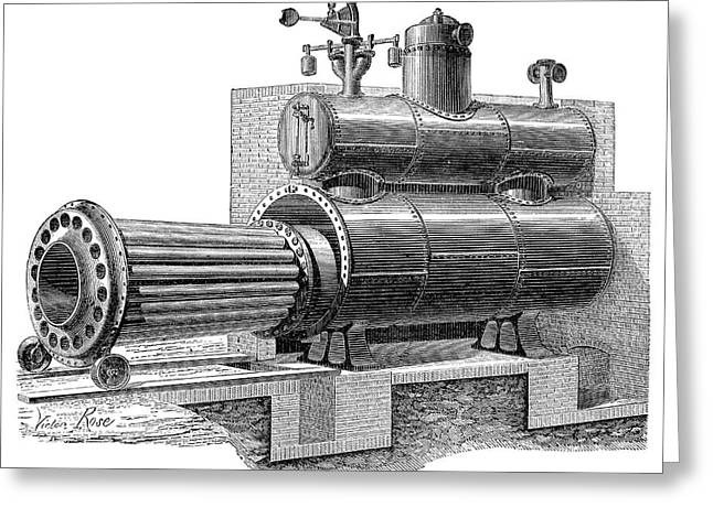 Removable-furnace Boiler Greeting Card