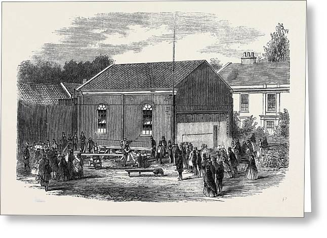 Removal Of A Chapel At Melton Near Woodbridge Suffolk Greeting Card by English School