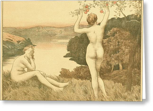 René Menard French, 1862 - 1930. Automne Greeting Card by Litz Collection