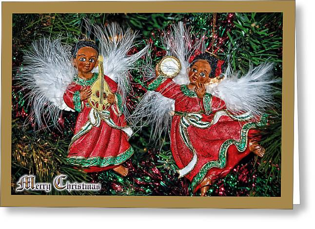 Greeting Card featuring the photograph Renaissance Angels by Donna Proctor