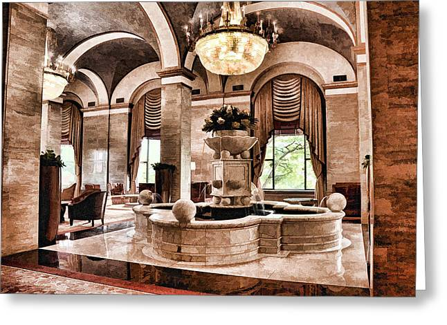 Greeting Card featuring the photograph Renaissance Cleveland Hotel - 1 by Mark Madere