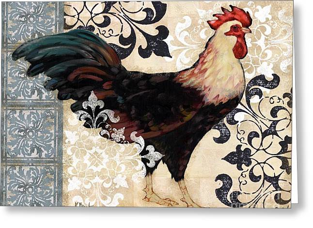 Renaissance Rooster I Greeting Card by Paul Brent