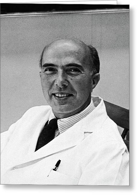 Renato Dulbecco Greeting Card by National Library Of Medicine