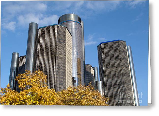 Rencen And Autumn Gold Greeting Card