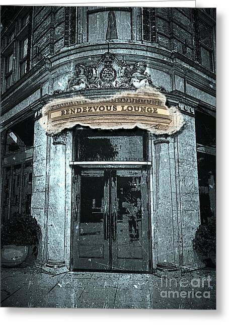 Greeting Card featuring the photograph Rendezvous Lounge - Lancaster Pa. by Joseph J Stevens