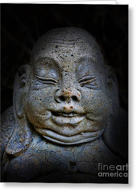 Qieci The Fat Budai - Fat Buddha Greeting Card by Lee Dos Santos