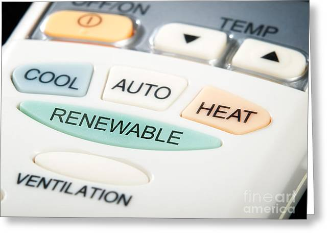 Renewable Button Greeting Card