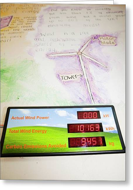 Renewable Energy Readouts Greeting Card by Ashley Cooper
