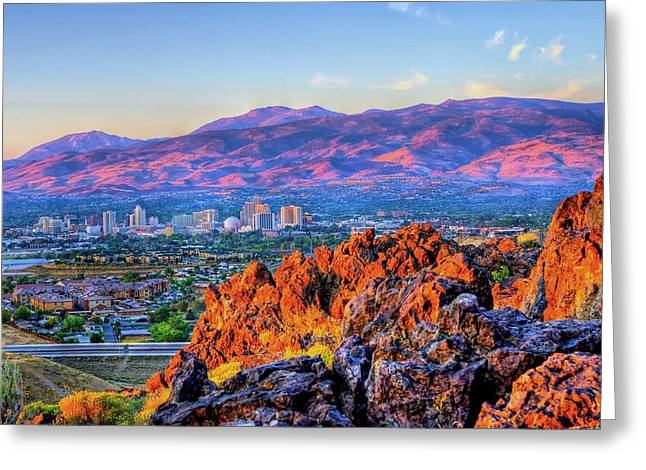 Reno Nevada Sunrise Greeting Card