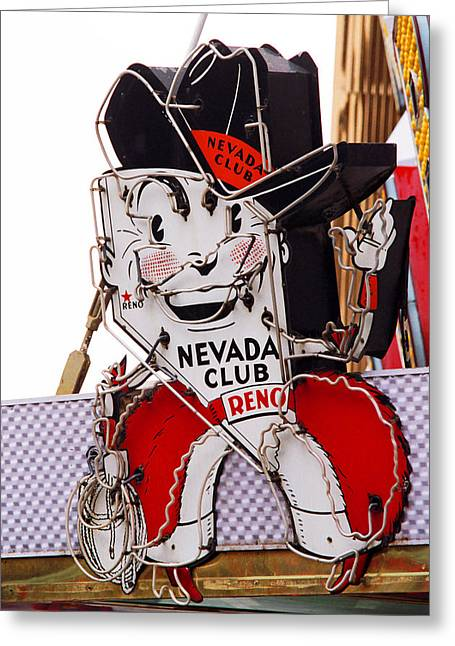 Reno - Old Nevada Club Greeting Card by Frank Romeo