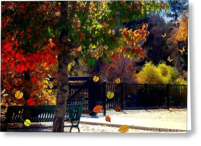 Reno Riverwalk In The Fall Greeting Card by Bobbee Rickard